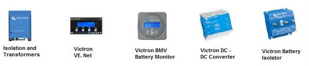 victron isoltaion transformer, ve.ne, bmv 600 and 602 battery monitor, dc to dc converter, battery isolator